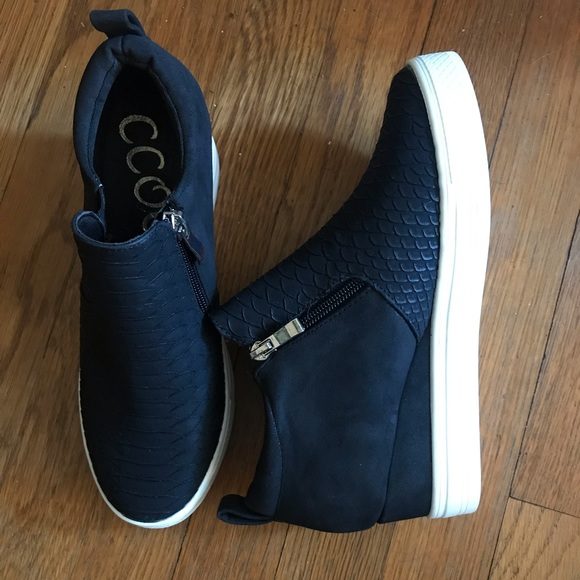 Ccocci Shoes   Black Snakeskin Sneakers